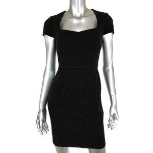 Banana Republic Sheath Dress Sz 4 Black Stretch
